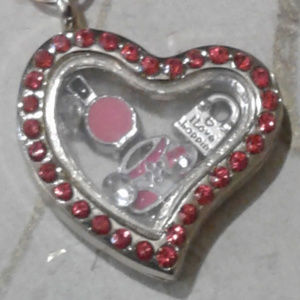 Jewelry - NEW I LOVE SHOPPING memory locket necklace